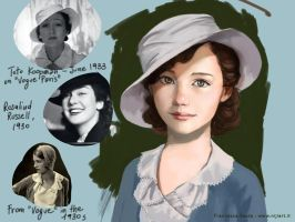 Girl in the 1930s France - study 1 by niji707