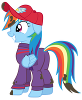 Rainbow Dash in Work Suit by Tardifice