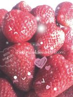 kawaii strawberries by VioletLunchell