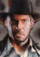 Indiana Jones Sketch Card 6 by Ethrendil