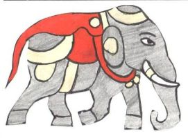 The Indian elephant by Eona123
