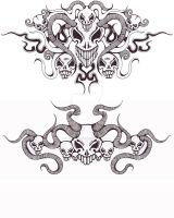 Skull tattoos by devilschild669