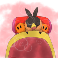 tepig _sweet_dream by hoyeechun