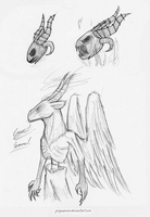 Traditional: Zalgo and Samael Sketches by GingaAkam