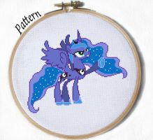 Princess Luna cross stitch pattern by JuliefooDesigns