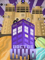 Doctor Who: Art Deco Tardis Poster by JeffSWalsh