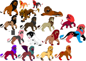 So Many Lions (Breedable) by Violent-Kion