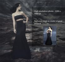 Exclusive Black Dress Stock by pelleron
