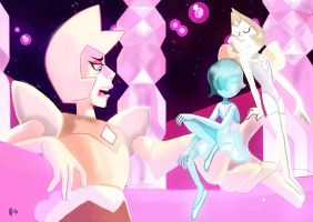 Yellow Diamond and pearls by IcedEdge