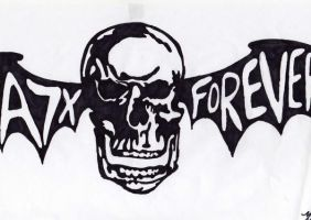 A7X Forever Deathbat by Dead-of-all-emotion