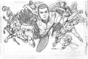 Legion Issue 9 cover pencils by Cinar