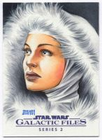 Snowbunny Padme Commissioned SketchCard by Erik-Maell