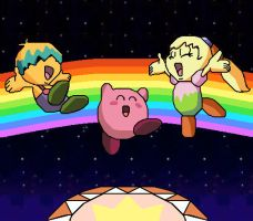 Rainbow Tambourine Party by FumuLover
