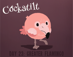 Birdstarter Day 23: Greater Flamingo by Furrama