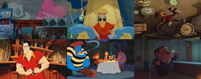 Disney Alcoholic Beverages in Movies Part 4 by dramamasks22