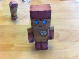 Steampunk Robot  (using Mark Crilley's template) by sakura-forest