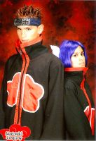 Pein and Konan Cosplay Pose by flamable77