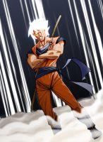 Re-Imagigne 001 Goku - color by AlexDeB