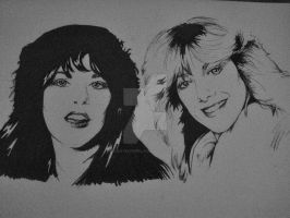 Ann and Nancy Wilson by RushYesZeppelin