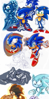 Sonic sketches by missyuna