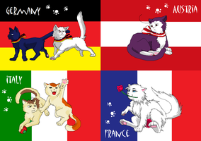 Nekotalia: Europe (flags) by Marshcold