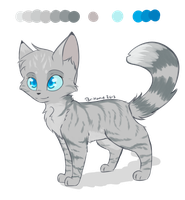 Bluefire Ref. by Bluefire-kitteh