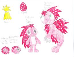 htf digimon flaky by anolelightdragon