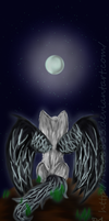 White wolf-Black Wings by neo8833