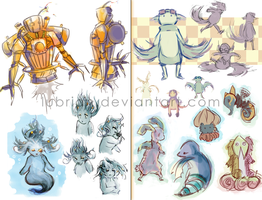 Videogame Monster Designs by Lubrian