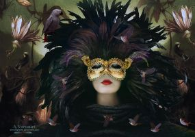 The mask woman by annemaria48