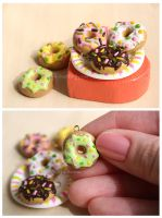 Donuts charms by thinkpastel