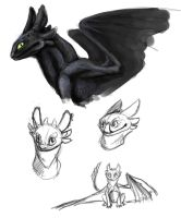 Toothless Doodles by AbelPhee