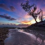 Ripples in the sand at sunset by peterpateman