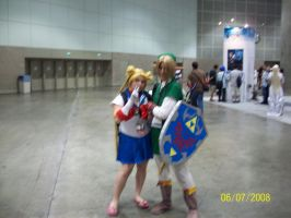 Sailor Moon and Link by foxanime101