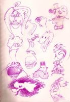 Characters faces by nube