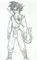 Character Redesign Madness: Goku by DeviantK14