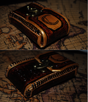 Crescent Moon Steampunk Pouch by celestial-rogues