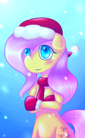 Christmas Fluttershy Anthro by Wendy-the-Creeper