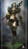 Mercenary female armor suit by Veus-T