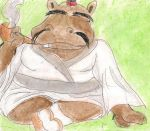 Smoking Hippo by kingofthedededes73