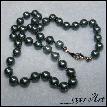 Knotted Pearl Necklace by 1337-Art