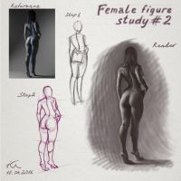 Female figure study 2 by Olekir