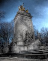 Maine Memorial in NYC by spudart