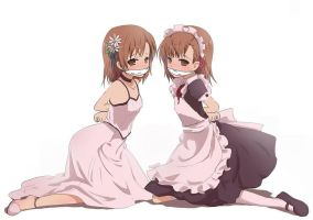 2 Misaka Mikoto tied and gagged by aflix490