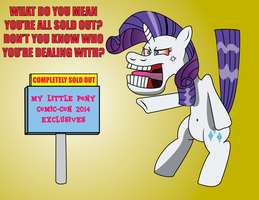 Rarity Hoek freaks out over sold out exclusives by daimando