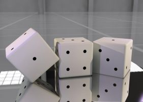 3Ds Max - Dice by Jibari-chan