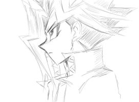 Yami Yugi yeahsureofcourse in tablet... by maboku