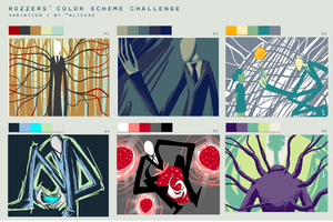 Color Scheme Meme: Slender Man by Py-Bun