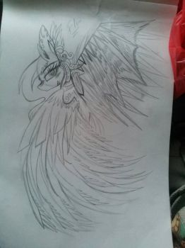 I think I drew too much feathers.....=_=  by MariaLovesMLP2105