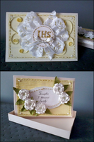 First Communion card by Coralqueen